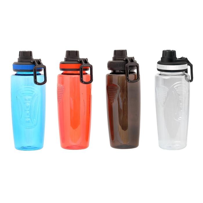 Бутылка для воды 750 мл, с кольцом для переноса, микс, 23х8 см