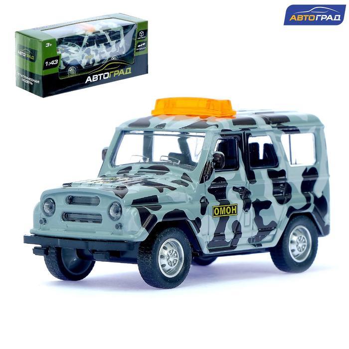 Машина металлическая «Джип ОМОН», инерционная, масштаб 1:43