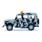 Машина металлическая «Джип ОМОН», инерционная, масштаб 1:43 - фото 105654089