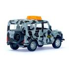 Машина металлическая «Джип ОМОН», инерционная, масштаб 1:43 - фото 105654090