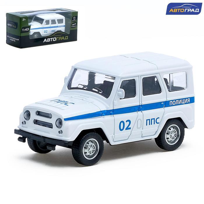 Машина металлическая «Джип полиция», инерционная, масштаб 1:43