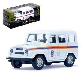 Машина металлическая «Джип МЧС», инерционная, масштаб 1:43