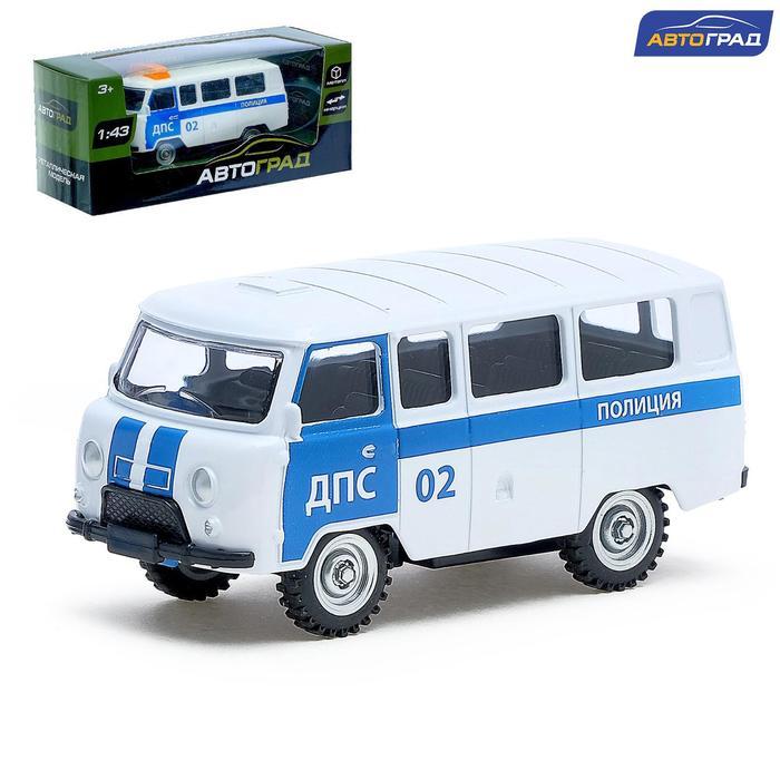 Машина металлическая «Микроавтобус ДПС», инерционная, масштаб 1:43