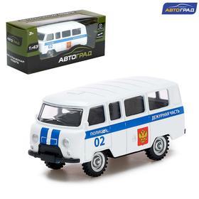 Машина металлическая «Микроавтобус полиция», инерционная, масштаб 1:43
