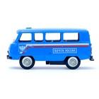 Машина металлическая «Микроавтобус почта», инерционная, масштаб 1:43 - фото 105654133