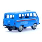 Машина металлическая «Микроавтобус почта», инерционная, масштаб 1:43 - фото 105654134