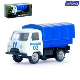 Машина металлическая «Фургон полиция», инерционная, масштаб 1:43
