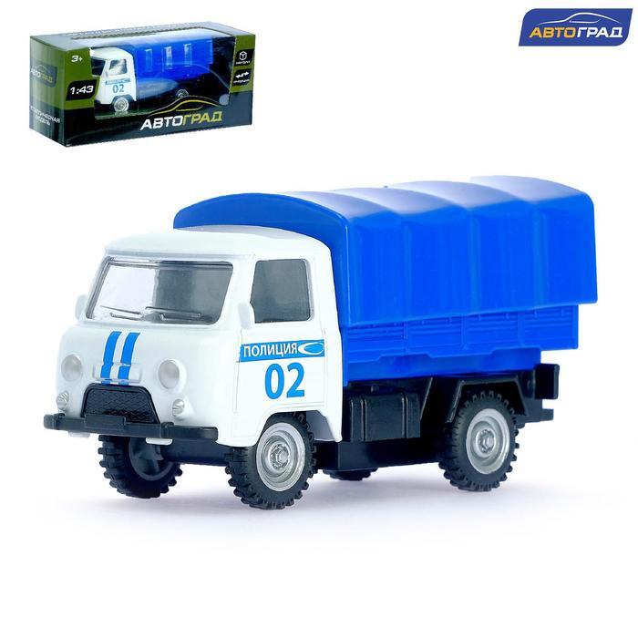 Машина металлическая «Фургон полиция», инерционная, масштаб 1:43 - фото 76290473