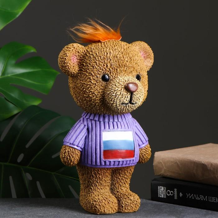 "Копилка ""Плюшевый мишка в свитере"" флаг 15х18х28см"