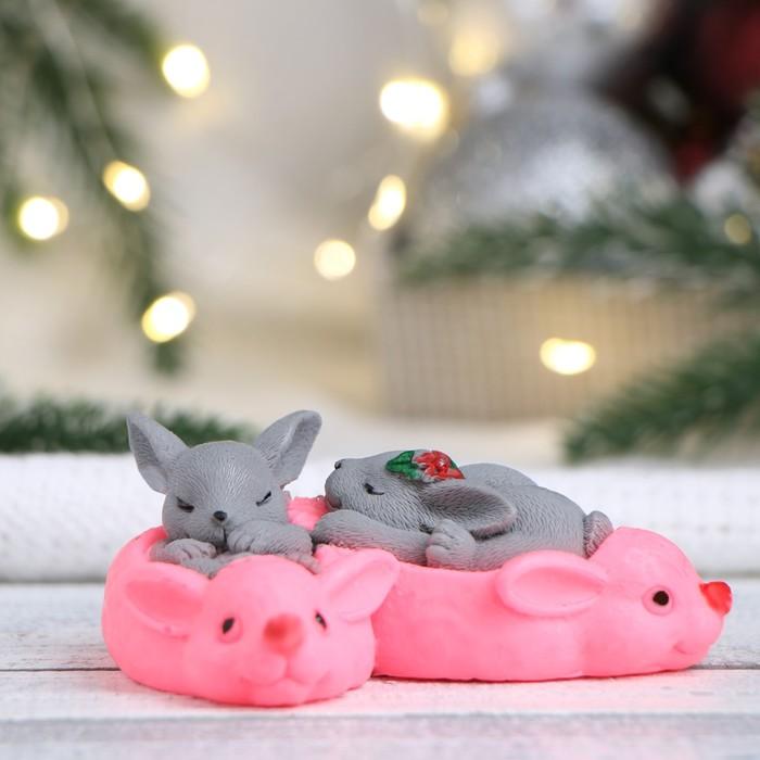 """Мыло фигурное """"Кролики в тапках"""" 105 г"""