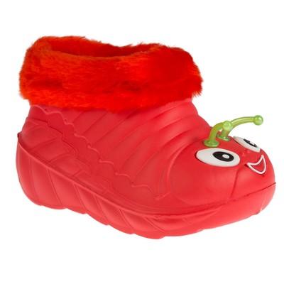 Ботинки детские ЭВА арт. У1_08, цвет красный, размер 24