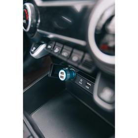 Автомобильное зарядное устройство TORSO, с аварийным наконечником, USB 1.0 А; 2.1 А, МИКС