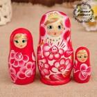 "Matryoshka ""Marina"", the red-and-white dress, 3 doll. 10 cm"