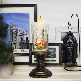 "Фигура световая свеча ""Дед Мороз"", 26х11х11 см, от бат. 3*АА(не в компл.), Т/БЕЛЫЙ"