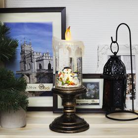 "Фигура световая новогодняя свеча ""Снеговик"", 26х11х11 см, 3*АА(не в компл.), Т/БЕЛЫЙ"