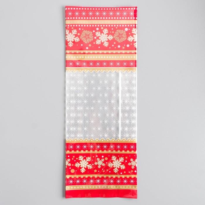 """Пакет подарочный """"Зимняя классика"""", 16 х 42 см , 60 мкм - фото 308289438"""