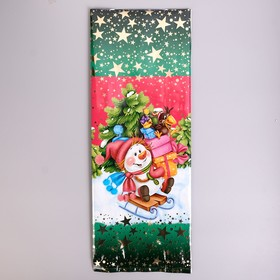 """Package gift """"sled"""",16 x 42 cm, 60 µm"""