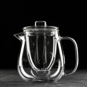 Чайник заварочный со стеклянным ситом «Бохо», 600 мл, 15×12×11 см