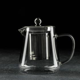 Чайник заварочный «Квадро», 350 мл, 9,5×7×10 см, металлическое сито