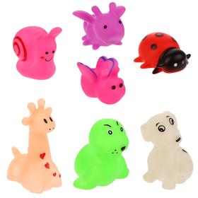 Набор резиновых игрушек для игры в ванной «Весёлая компания», 7 шт.