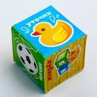 Мягкие кубики «Морские животные + Предметы» со свистулькой, размер 7х7 см, для купания, набор 2 шт. - фото 105535503