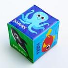 Мягкие кубики «Морские животные + Предметы» со свистулькой, размер 7х7 см, для купания, набор 2 шт. - фото 105535504