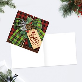 Открытка мини «С новым годом», шильдик, 7 × 7 см Ош