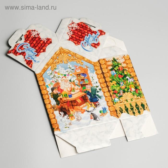 "Подарочная коробка ""Мастерская Деда Мороза"", малый, 16,5 х 8 х 23 см"