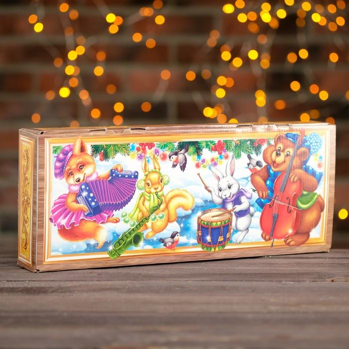 """Подарочная коробка """"Пианино с цветными клавишами"""", 40 х 16 x 6,2 см"""