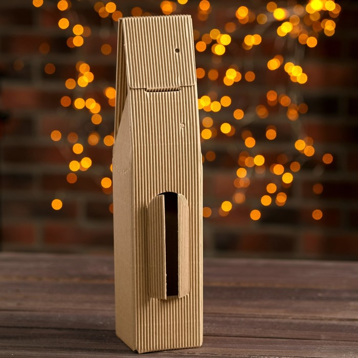 Подарочная коробка под 1 бутылку, 8,6 х 8 х 39,5 см