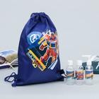 A pool kit Robot: bag, bottle for shampoo