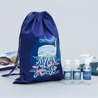 Набор для басcейна «Суперпловец»: сумка, бутылочки для шампуней
