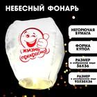 "Flashlight desires ""Life is beautiful!"" smiley"