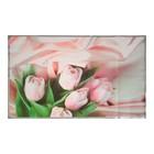 """Наклейка на кафельную плитку """"Розовые тюльпаны на шелке"""" 75х45 см"""