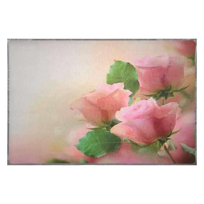 """Наклейка на кафельную плитку """"Розовые крупные розы"""" 60х90 см"""