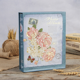 """Magnetic photo album 20 sheets the """"Royal peony"""" in the box MIX 26,5 × 20,5x5,5 cm"""