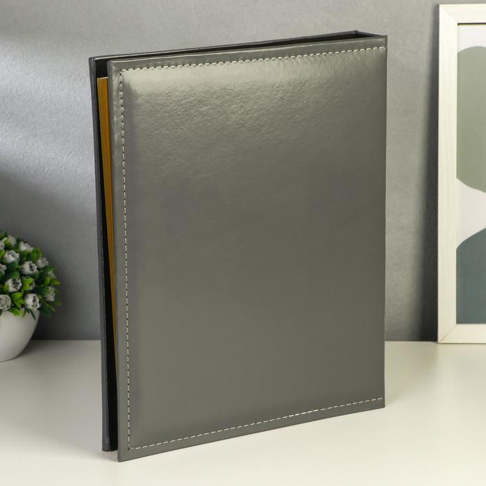 """Фотоальбом магнитный 20 листов """"Классика""""  кожзам в коробке 34х27,5х4,5 см   МИКС - фото 818666"""