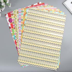 Paper 1-sided with gold-embossed Graphic set of 50 sheet., PL-St 80 gr 49.5x34.5 cm