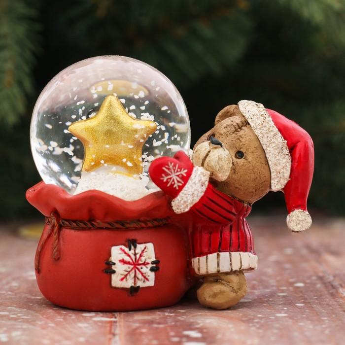 Набор «Пусть всё сбудется»: снежный шар, свеча