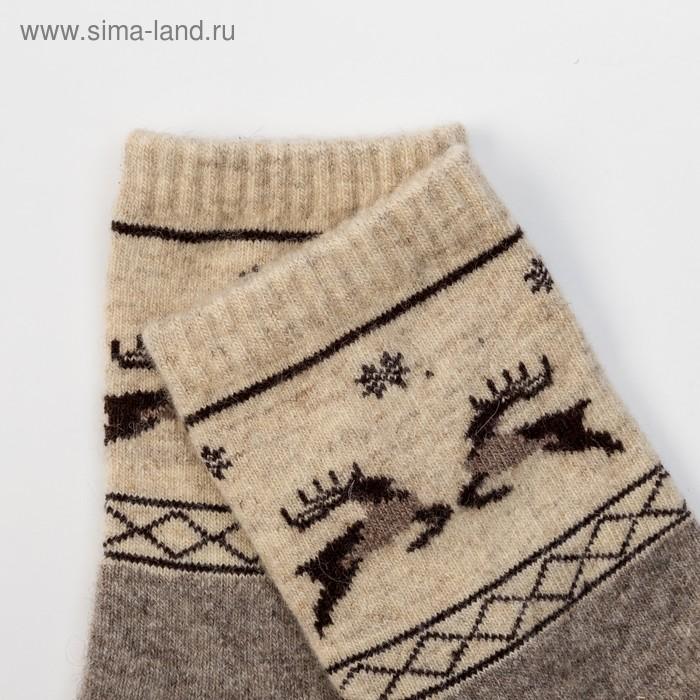 b9ba6395f256e Носки новогодние мужские шерстяные Organic снежинки и олени, цвет серый,  размер 27 (40. prev