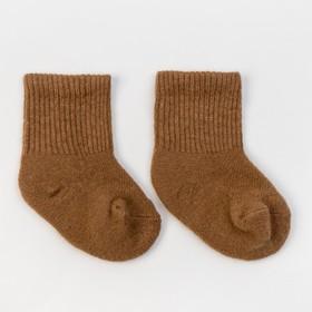 Носки детские из шерсти верблюда 02101 цвет рыжий, р-р 12-14 см (2)