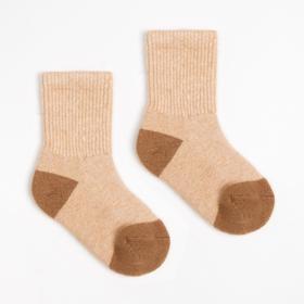 Носки детские из шерсти верблюда 02102 цвет бежевый, р-р 12-14 см (2)