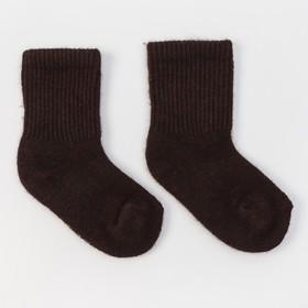 Носки детские из шерсти яка 02104 цвет шоколадный, р-р 18-20 см (5)