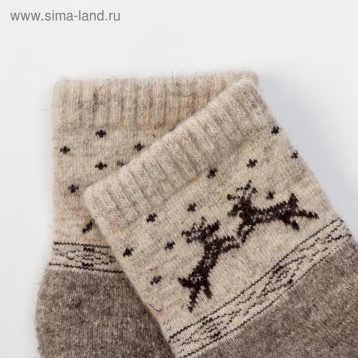 dd3e360399840 Носки новогодние детские шерстяные Organic «Олени», цвет серый, размер  16-18. prev