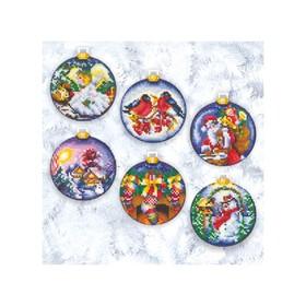 Набор для вышивания «Новогодние шары»