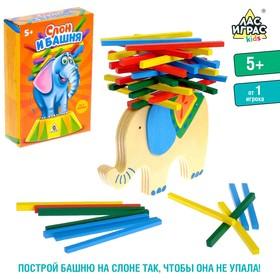 Настольная игра на равновесие «Слон и башня»