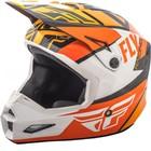 Шлем подростковый кроссовый YOUTH FLY RACING ELITE GUILD orange/white/black, L