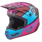 Шлем подростковый кроссовый YOUTH FLY RACING ELITE GUILD pink/blue/matt black, L