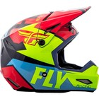 Шлем подростковый кроссовый YOUTH FLY RACING ELITE GUILD red/blue/Hi-Vis yellow, L