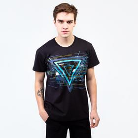 T-shirt man Hacker color black, solution 58